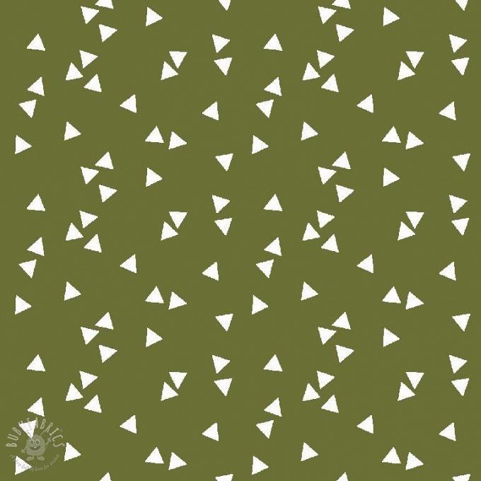 f62934e199 Cotton fabric Triangle green   bubufabrics.com